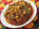 Cluster beans and tomato recipe serving plate